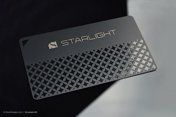 Quick Laser Engraved Metal Business Card Starlight Metal Business Cards Business Card Design Business Card Template Design