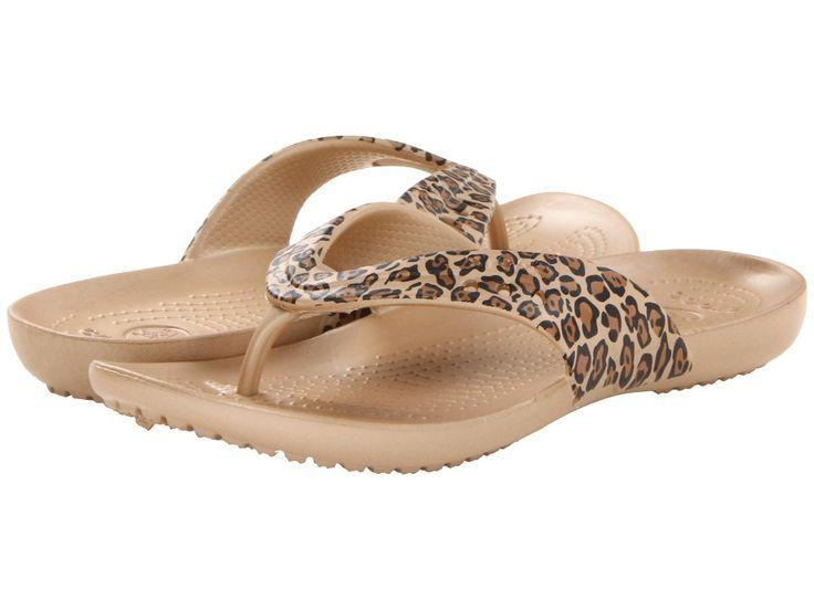 Slapi Crocs Kadee Leopard Print Flip Flop