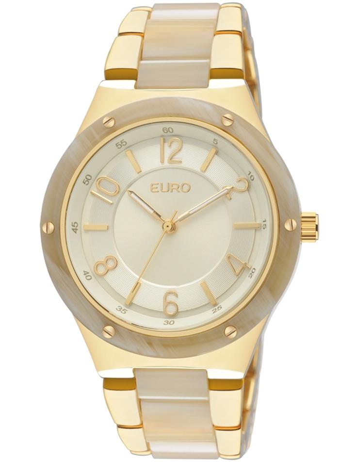 Relógio Feminino Analógico Euro Breslau EU2035TG/4D - Dourado - Relógios no E-Euro
