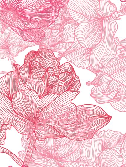 Abstract Line Flower Floral Pattern Case | Abstract HD Wallpapers 1