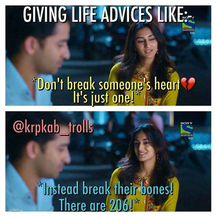 Haha... Life advices