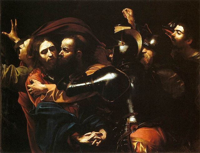 Zechariah 11:12 - And I said unto them, †If ye think good, give me my price; and if not, forbear. So they weighed for my price thirty pieces of silver.  Zechariah prophesied the betrayal of Jesus by Judas as shown in this painting, The Taking of Christ, painted by Caravaggio for the Roman Marquis Ciriaco Mattei at the end of 1602.  The painting is in the public domain.