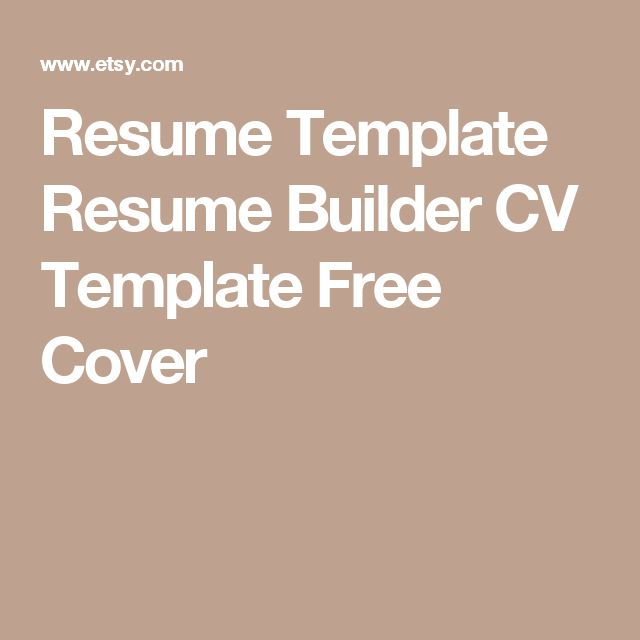 10+ ide Cv templates free download terbaik di Pinterest - microsoft resume builder free download