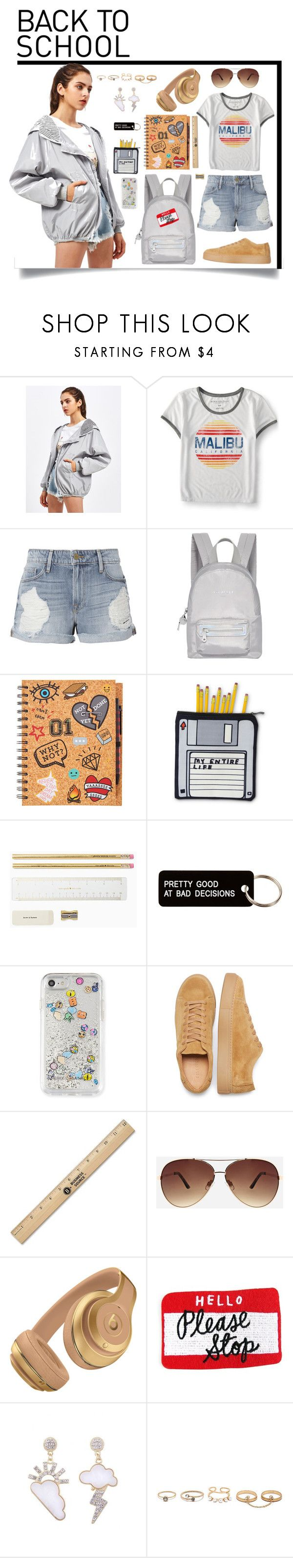 """Outfit #187"" by emydeishly ❤ liked on Polyvore featuring Aéropostale, Frame, Fiorelli, Various Projects, Rebecca Minkoff, Ashley Stewart and LULUS"