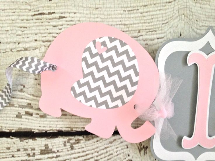 Elephant Banner in Pink and Gray, Pink and Gray Baby Shower Banner, Pink and Gray Chevron Baby Shower Decorations by AllDiaperCakes on Etsy https://www.etsy.com/listing/215261792/elephant-banner-in-pink-and-gray-pink