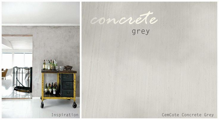 #8 Concrete grey - create a textured, one-of-a-kind wall finish