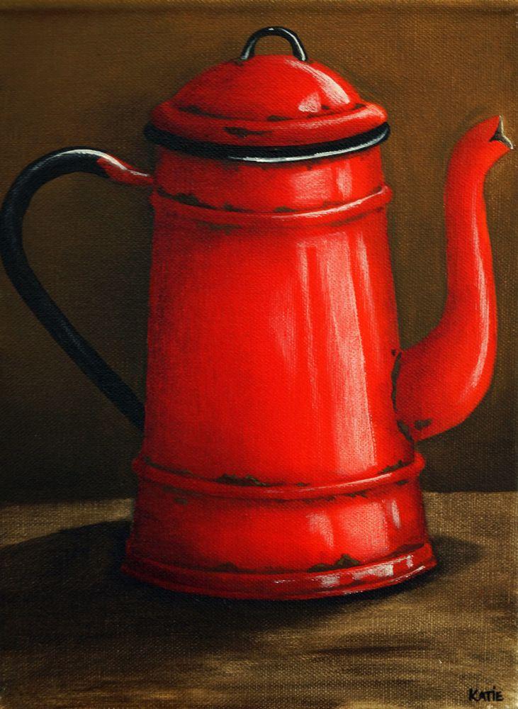 Red Enamel Jug - 300 x 225 - R495.00 - Katie