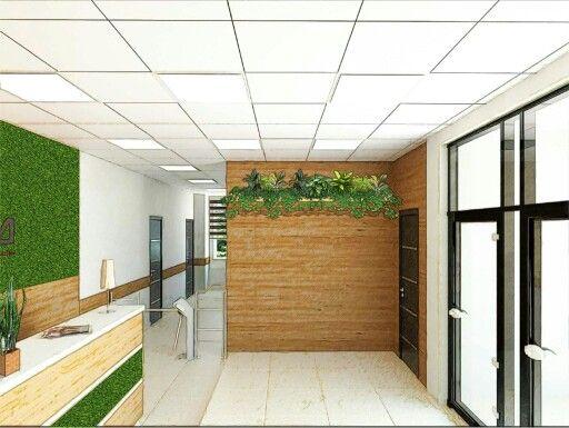 Визуализация проекта озеленения административного здания