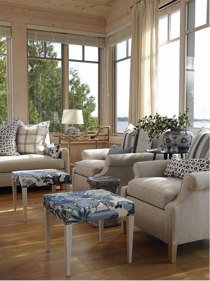 Sarah Richardson's Summer Beach House Cottage Living Room by Between Naps on the Porch.