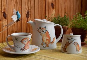 Посуда с Вашим рисунком на заказ: Рыжие коты