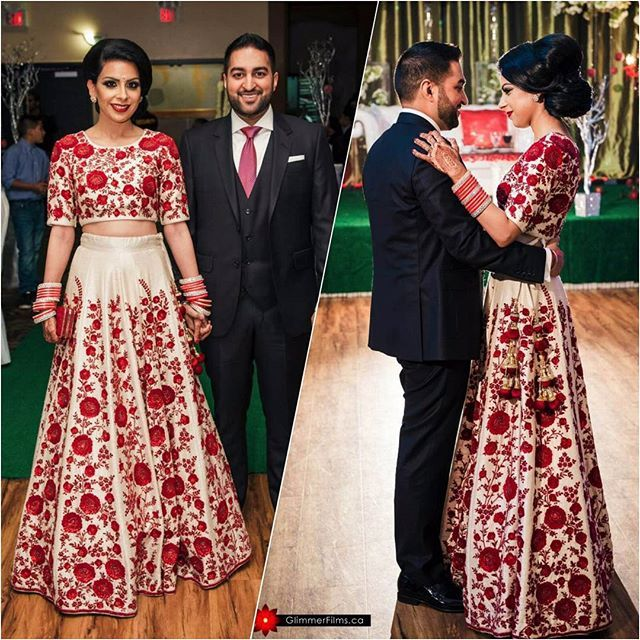 Perfect outfit for the occasion designed for our client @pamgrrr reception. Email us at customorders@wellgroomed.ca to book your bridal consultation for a custom dress. ___________________________________ #wellgroomedinc #indianfashion #fashion #style #fashionstyle #fashiongram #fashionista #fashionlover #fashiondesign #bride