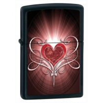 Zippo 28043 Love Heart Black Matte - £21.53 @ www.mindyourfingers.co.uk