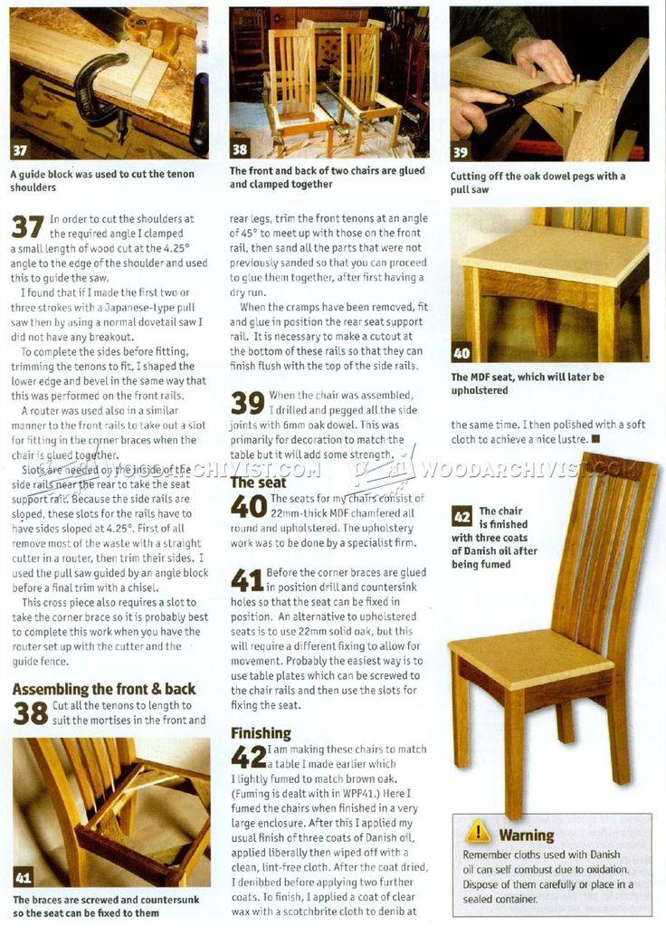 # 1489 Дуб Стулья для столовой планы - Мебель планы