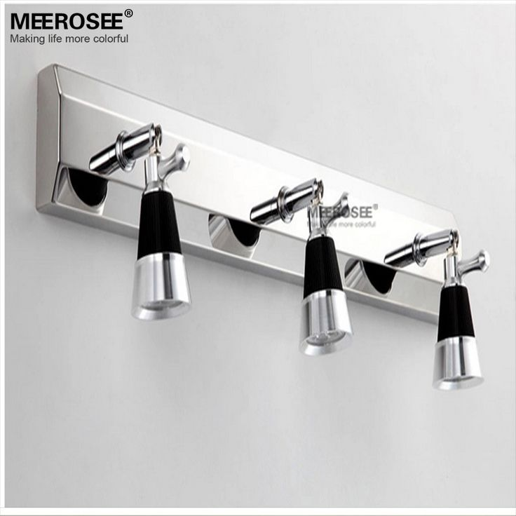 9 Вт из светодиодов зеркало настенные бра свет современная из светодиодов уборной лампы хром метал стены светильник для ванной из светодиодов стены блеск