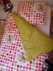Bulles de cerises: Housse de couette en 20 minutes...et la taie d'oreiller qui va avec!