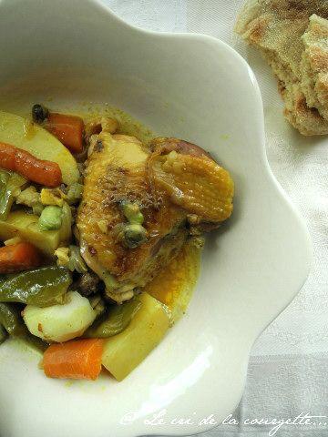 Tajine aux 7 légumes et au citron confit | Recettes de cuisine bio : Le cri de la courgette...