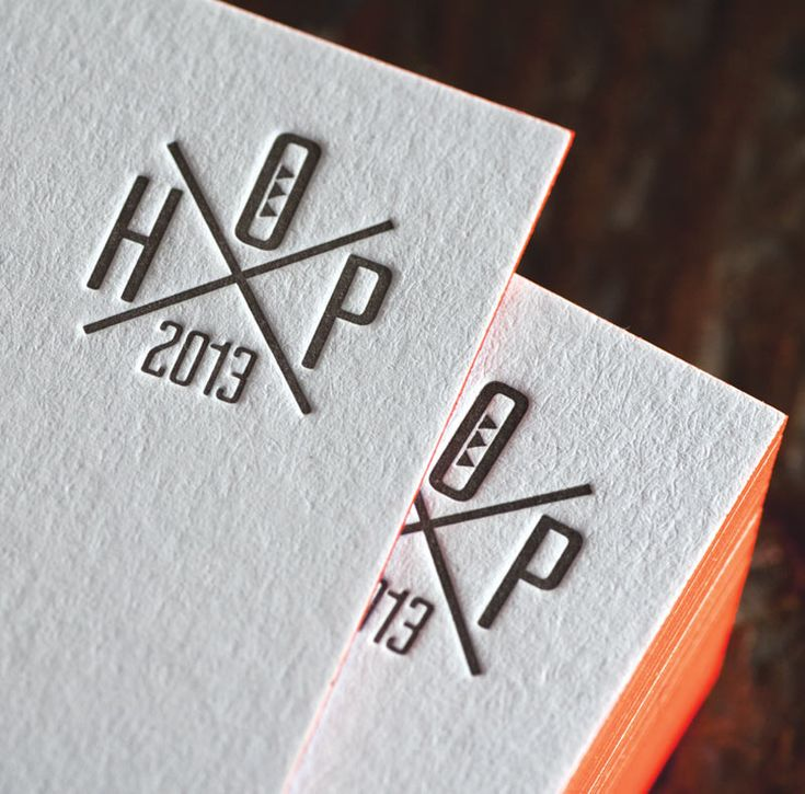 Cartes de visite imprimé en letterpress (presse typographique) par l'atelier House of Press
