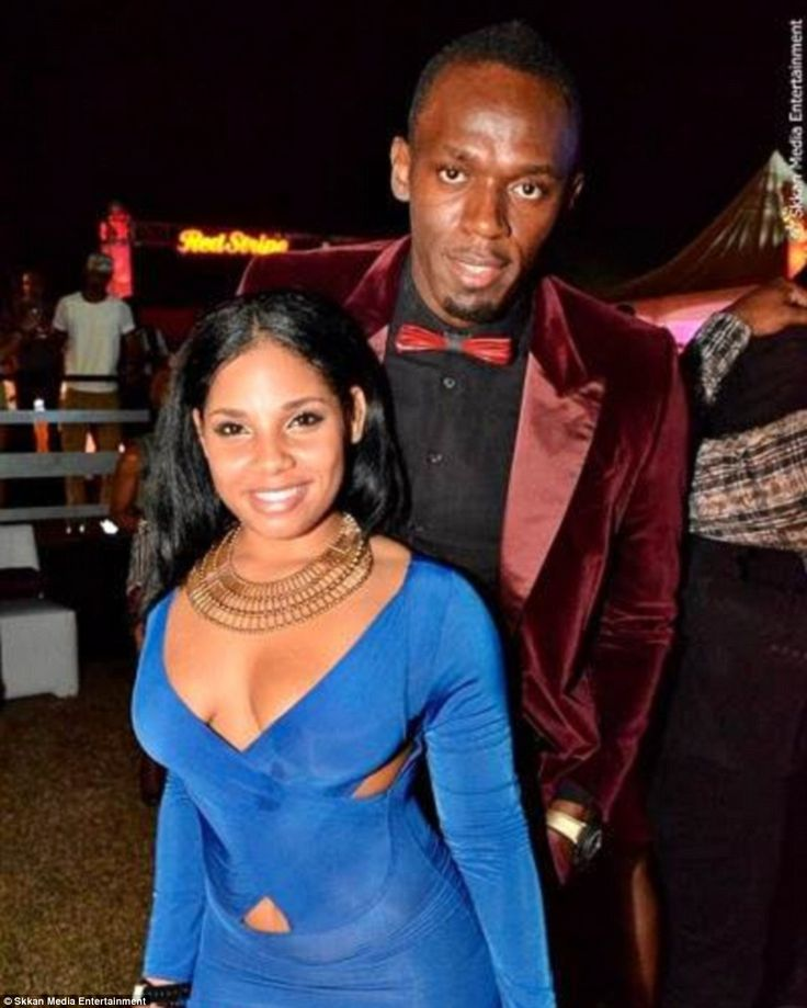 Loved up: Usain Bolt revealed in January that he has been in a steady…