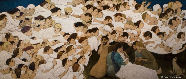 Brian Kershisnik's Nativity