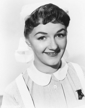 Joan Sims in her first Carry On appearance as a clumsy young Nurse Dawson in Carry On Nurse.