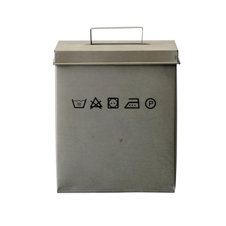 Boîte à lessive en zinc via Objets du Délit . Click on the image to see more!