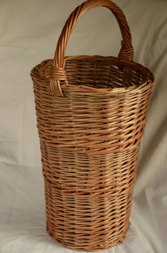 Wicker Umbrella Stand Wicker Basket for by WillowSouvenir on Etsy                                                                                                                                                                                 More
