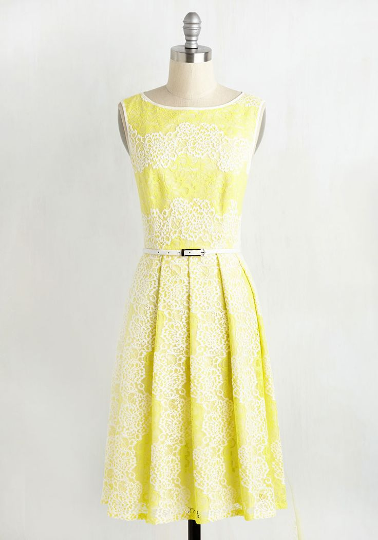 Timeless Vibrance Dress, @ModCloth  Very pretty. Too bad I can't wear that shade of yellow.