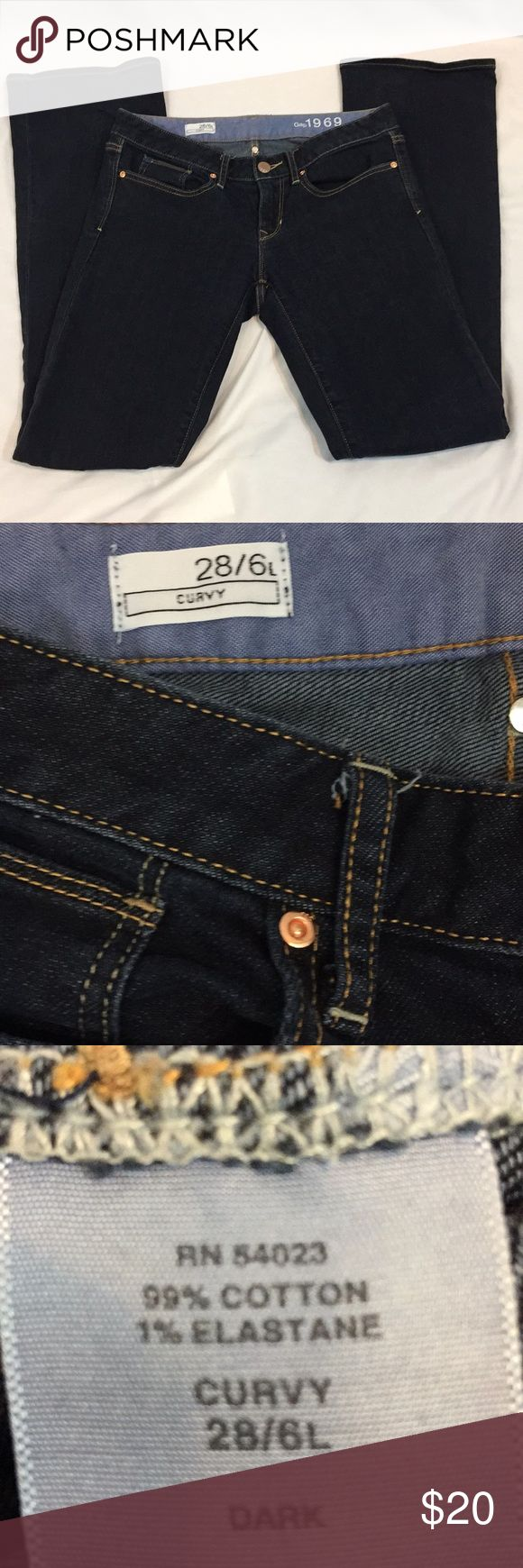 Gap SZ 6L Curvy Jeans Gap SZ 6L Curvy Jeans with approximately a 33.5in inseam. GAP Jeans