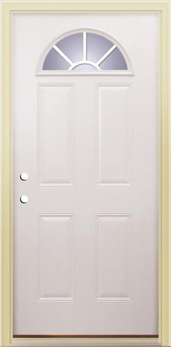 french exterior doors menards. embossed x primed steel sunburst lite prehung exterior door - right swing french doors menards