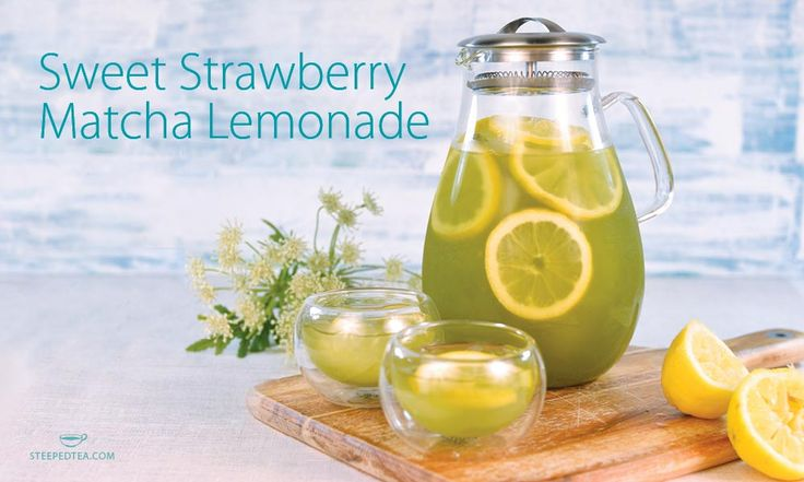 Sweet Strawberry Matcha Lemonade. A delicious summer refresher! (and it's re…