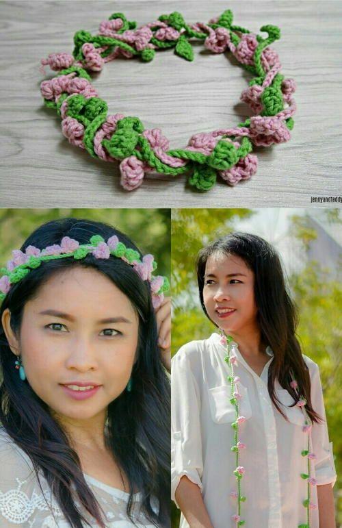 Delia Flower Crown | Crochet | Pinterest | Coronas
