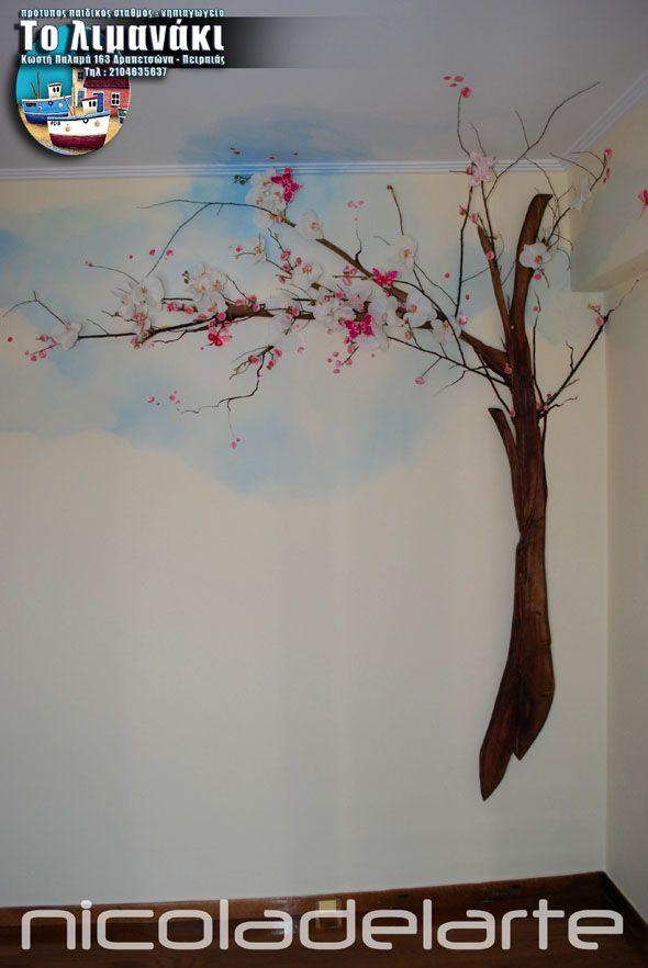 Ζωγραφική παιδικού δωματίου ( Δραπετσώνα - Πειραιάς ) Child's room wallpainting ( Drapetsona - Piraeus ) Greece