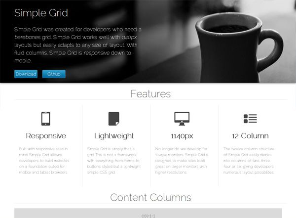 13 Best Responsive CSS Grid Systems for Your Web Designs   Responsive CSS grid: Simple Grid