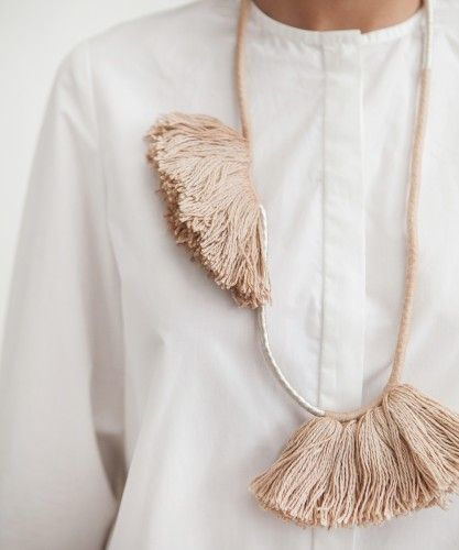 founders & followers | Gatherer Double Tassel necklace