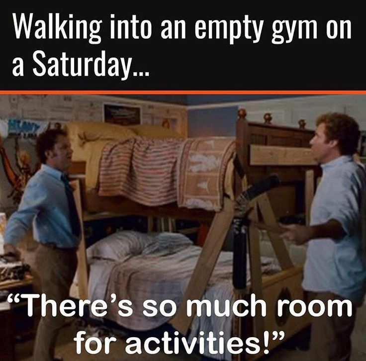 """Step Brothers / Walking into an empty gym on a Saturday...""""There's so much room for activities!"""""""