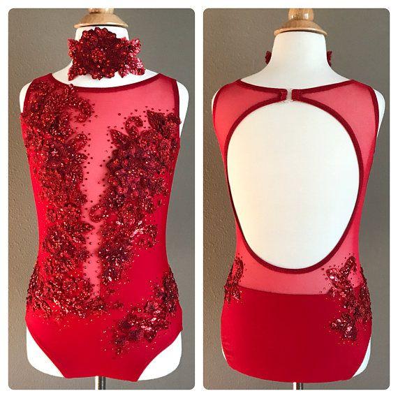 Red Contemporary/Lyrical/Jazz Dance Costume Leotard