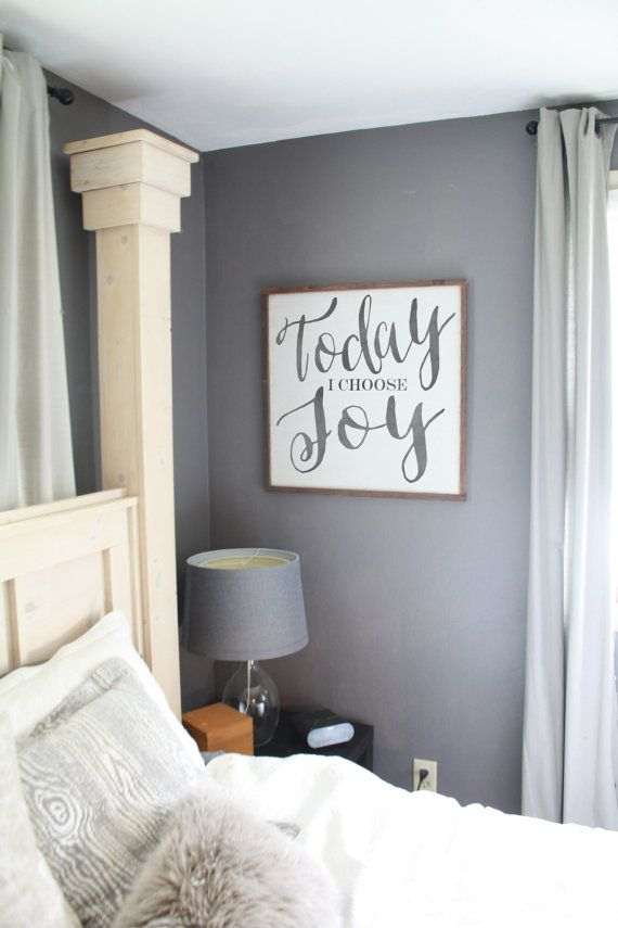 24x24 Today I choose Joy Framed wood sign  by SaltedWordsCompany