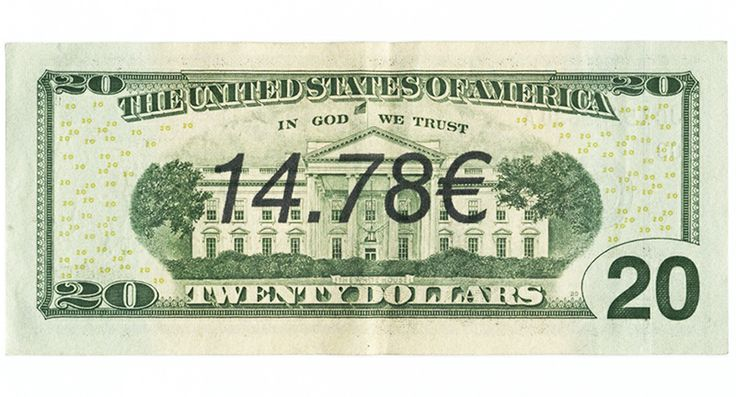 Ben Papyan 14.78€ 2013   money art, graffiti, bill, print, banknote, dollar, euro
