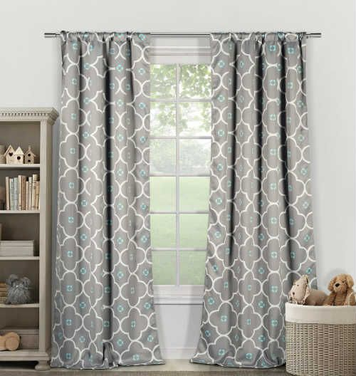 """BEST BLACKOUT CURTAINS- """"Grey Blue and White"""" (Click for Top 5 List!) Reviews by Boldlist.net"""