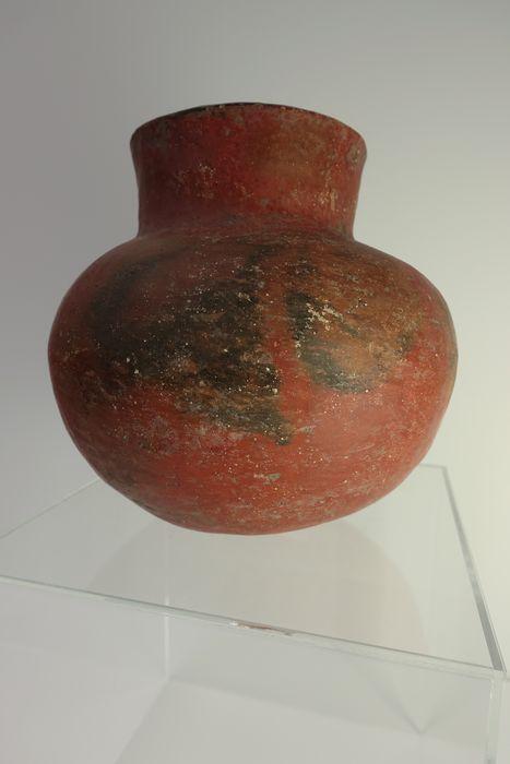 Native American (Hohokam) Redware Bowl - 20 X 20 cm  Deze mooie zeldzame redware schaal werd gemaakt door de vroege Hohokam inheemse Amerikanen. Het heeft uitstekende herkomst afkomstig uit de persoonlijke verzameling bekende onderzoeker en verzamelaar Bryce Hathcock. De kom is zwaar en solide met sporen van oorspronkelijke pigment. Het is in uitstekende staat (zie foto's) en volledig massief. Er kunnen enkele oude reparaties zoals deze kommen werden verhandeld en gewaardeerd in de…