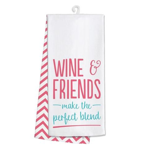 White Tea Towel, Hand Towel, Gifts for Women, Wine & Friends Towel, Boutique Clothing