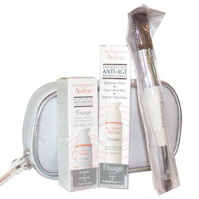 Avene Eluage Creme set Seti HAF ve Retinaldehit'in birleşimiyle geliştirilmiş Eluage yaşlanmaya karşı bakım serisi, kolajen ve elastin fiberlerinin sentezini tetikler, cildin ,htiyaç duyduğu temel maddelerin, yaş ile beraber azalan sentezini teşvik eder.