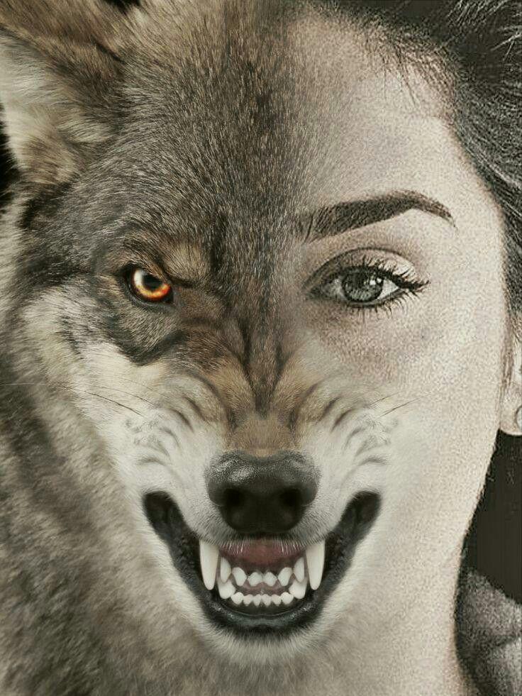 то, картинки людей с лицами волков можно использовать