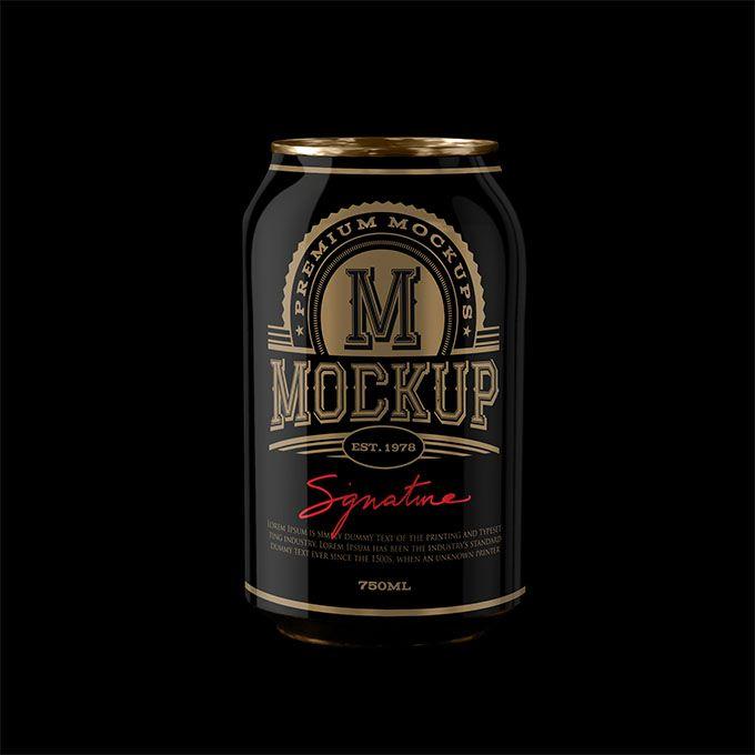 Premium Black Beer Can PSD Mockup - https://packreate.com/downloads/premium-black-beer-can-psd-mockup/