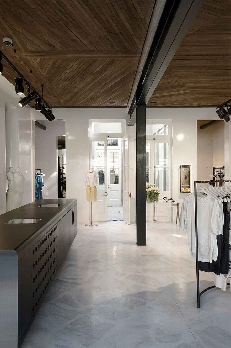 Prague commercial interior design news mindful design consulting -  Retail Design Inspiration Stone Look Flooring Patterened Wood Look Ceiling Scanlan Theodore