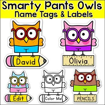 These fun Smarty Pants Owls name tags and labels will look fantastic in your classroom! This set is so versatile because you can make any labels that you want with the included blank labels and editable PowerPoint file. These would make great bin or basket labels, job