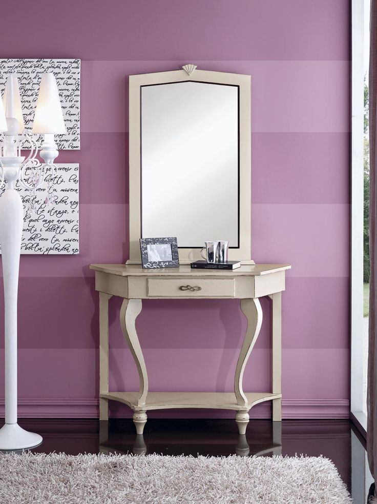 Choose a Console Table with mirror attached for a special, elegant room in your home  Catalog Zanini