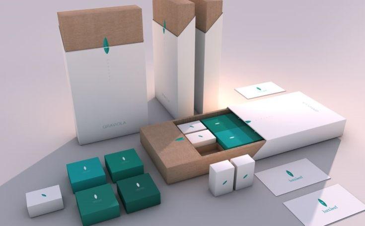 한잎 그라비올라 박스 패키지 디자인 : 네이버 블로그