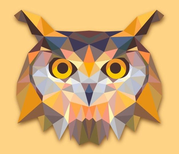 Download Free Low Poly Owl Vector | Sketchy Wetchy ...