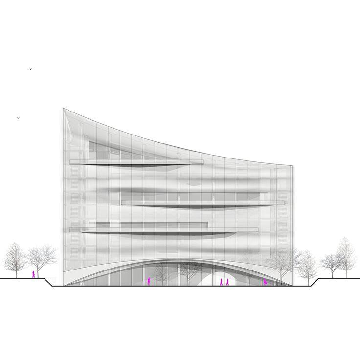 International Competiton Entry for Varna Library, Bulgaria 2015 Design by MAA, Melike Altınışık Architects